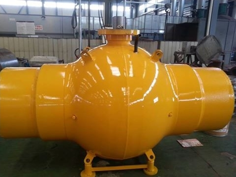 Fully welded ball valve with pup piece pipe