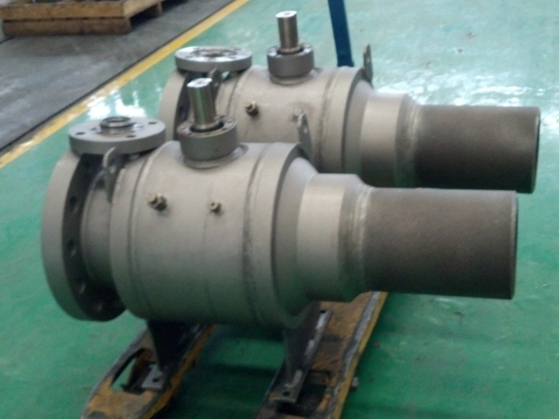 Flanged fully welded pipeline ball valve
