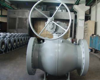 Flange ends fully welded spherical body ball valves