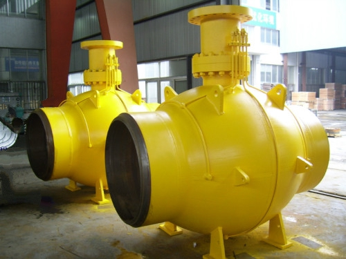 API 6D single welding fully welded ball valves
