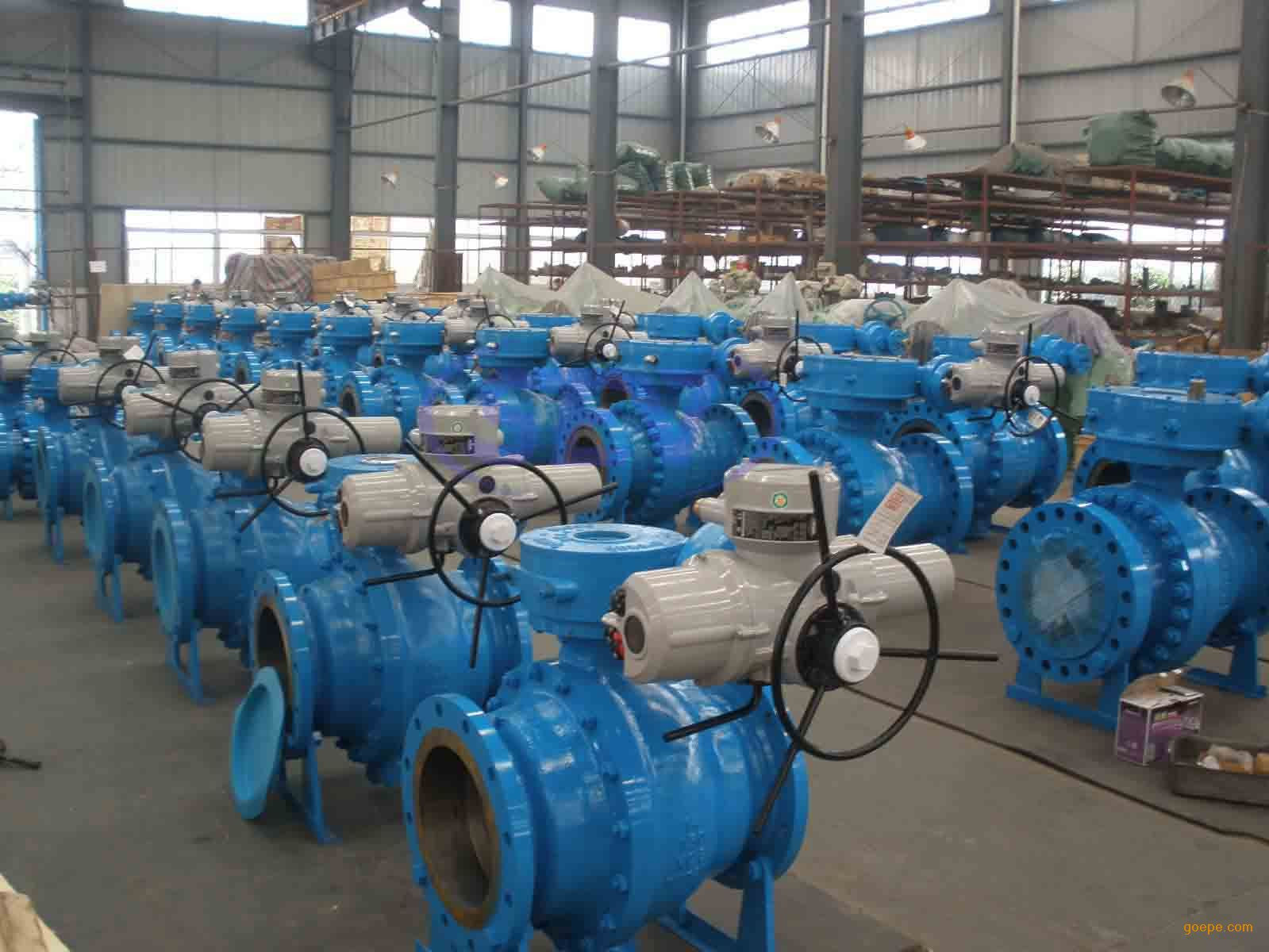 electric trunnion mounted ball valves