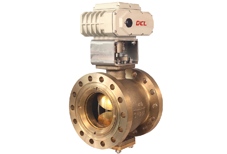 motorized eccentric V-port ball valves