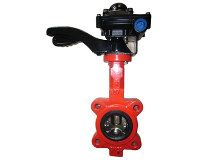 Lugged type double shafts butterfly valves with limited switch