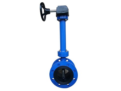 Double flanged extended stem butterfly valves