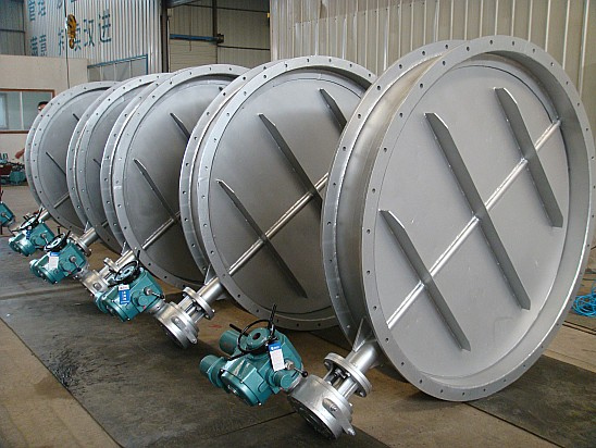 Double flanged center line ventilation butterfly valves
