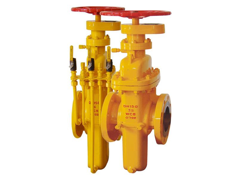City gas slab gate valves with gas exhaust