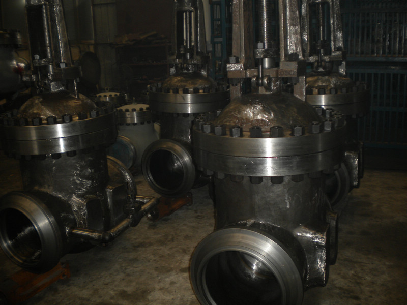 DIN PN100 DN400 GS-C25 Double Wedge Gate Valve with by pass