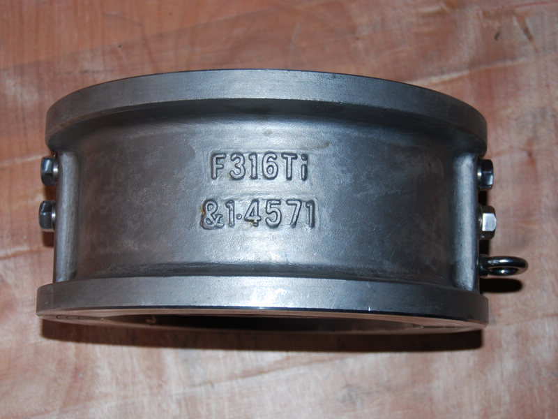F316Ti&1.4571 Wafer dual plate check valve