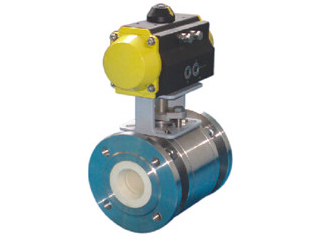 Pneumatic Full lined ceramic ball valves