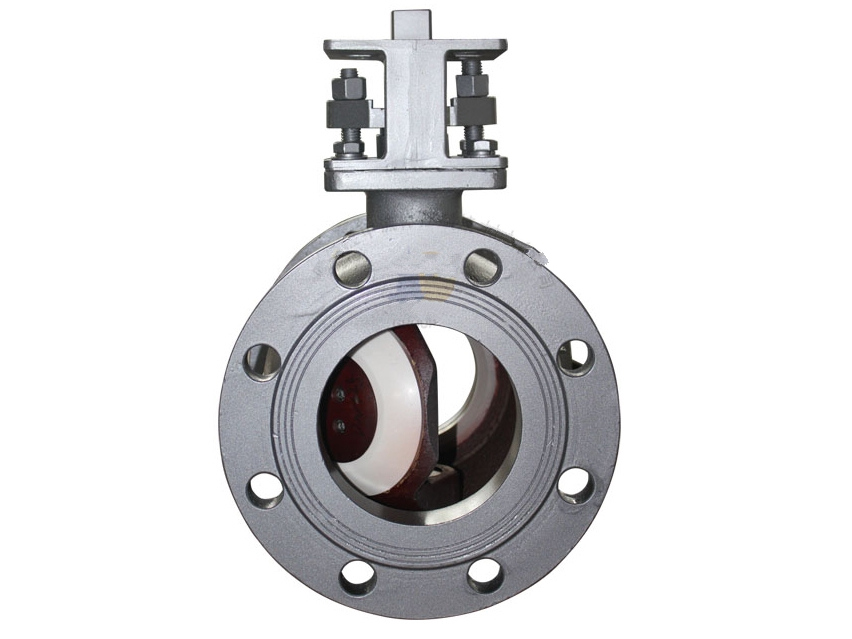 Ceramic semi-ball valves