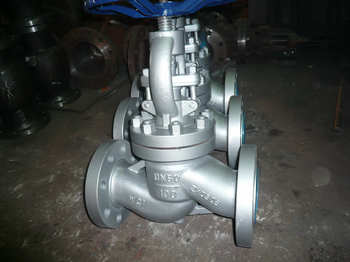 DIN WC1 PN100 DN80 GLOBE VALVE WITH REGULATING DISC