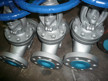 WC1 PN100 DN80 DIN GLOBE VALVE WITH REGULATING DISC