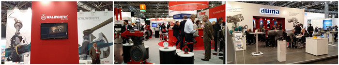 Famous valve and actuator manufacturers in VALVE WORLD 2014