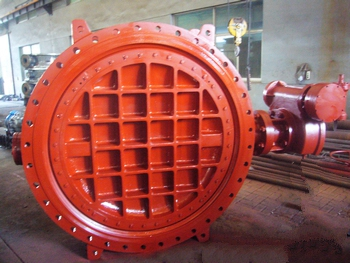 AWWA C504 DN1500 Double Eccentric Double Flanged Butterfly Valve