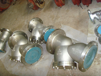 CF8M Y type strainers