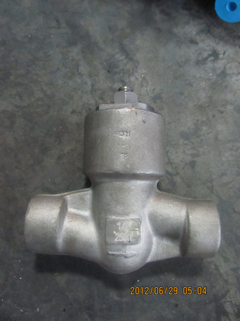 2500lbs SW 1/2 F321 Pressure seal forged check valve