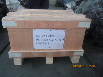 F321 Forged Gate valve and check valves shipping mark