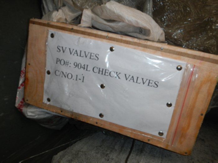 F904L forged lift type check valves packing