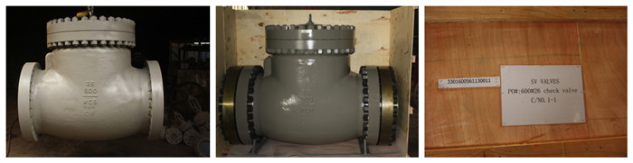 600lbs 26 in large size swing check valve with A105 counter flanges
