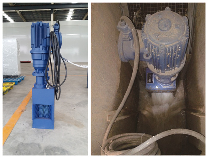 Non drum wastewater grinder installed in tunnel drainage pump station