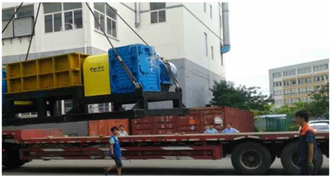 largest solid waste shredder for municipal solid waste