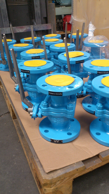 DIN ball valves with 3M coating