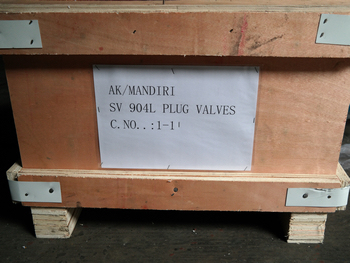 Duplex 904L sleeved plug valves packing