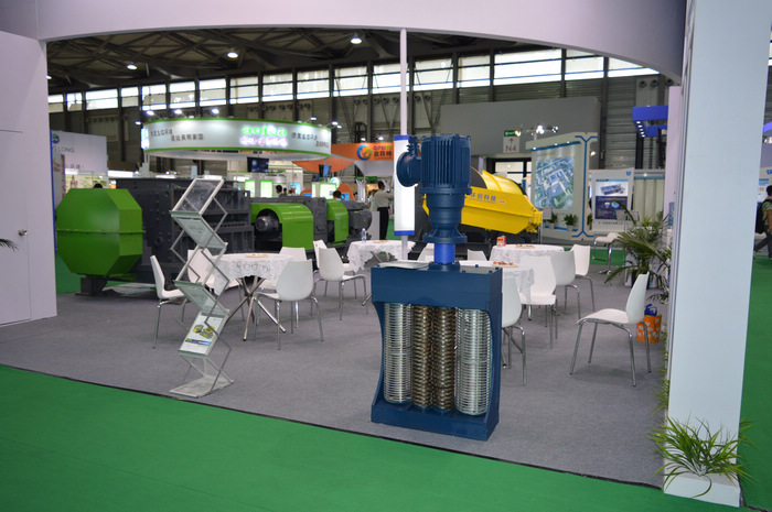 Double screen drum wastewater grinder in IE expo 2016