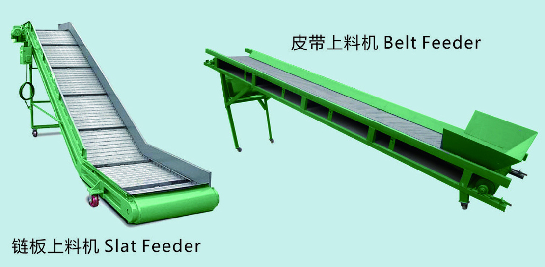 Slat conveyor & belt conveyor