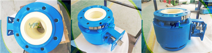 Ceramic ball valve for mining indusry