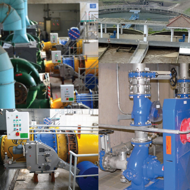 valves used in wastewater treatment plant