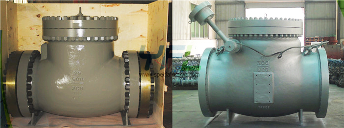 API 6D Large size full open swing check valve