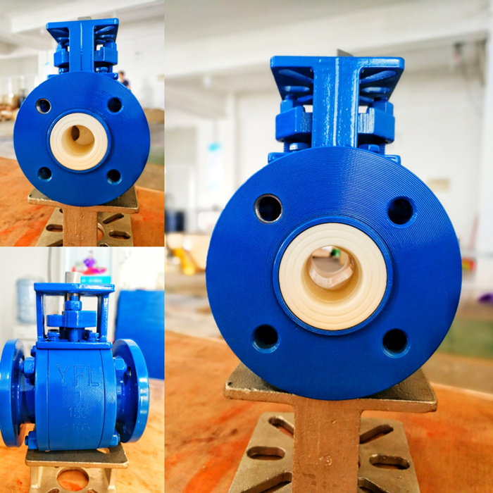 abrasion resistant ceramic V-port ball valve