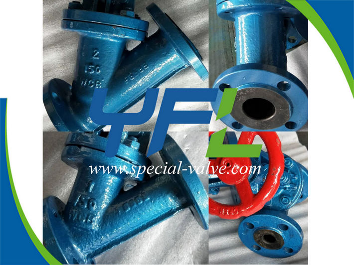 corrosion resistant rubber lined y type globe valves