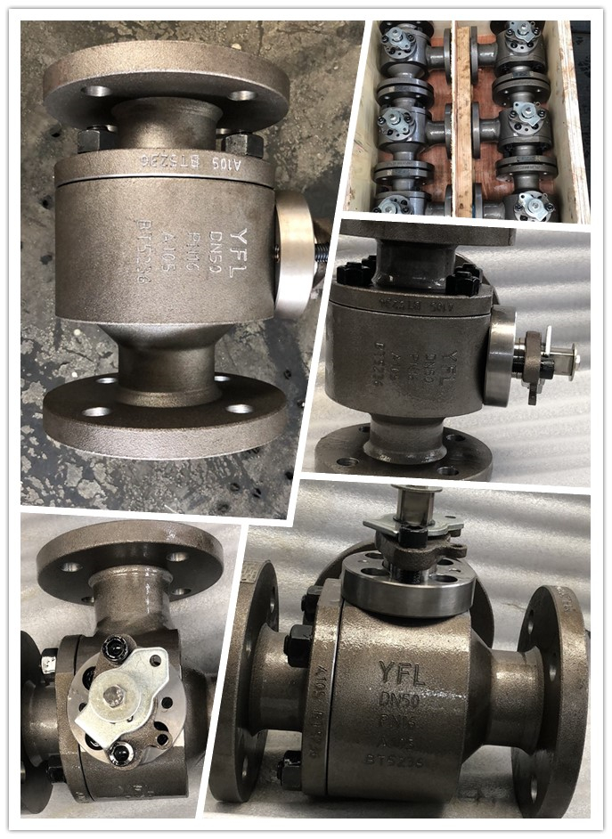 three way ball valves L type