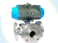 Motorized Carbon Steel LL Type Four Way Ball Valve