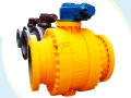 API Side Entry Cast Steel Trunnion Mounted Ball Valve
