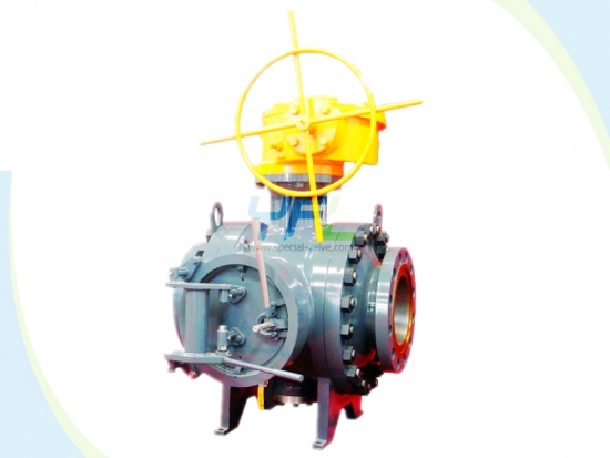 Api 6d Gear Operated Pipeline Pigging Ball Valve Stem Top