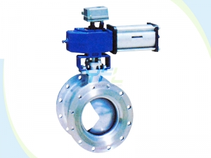 pneumatic V-Port Cut-off ball valves