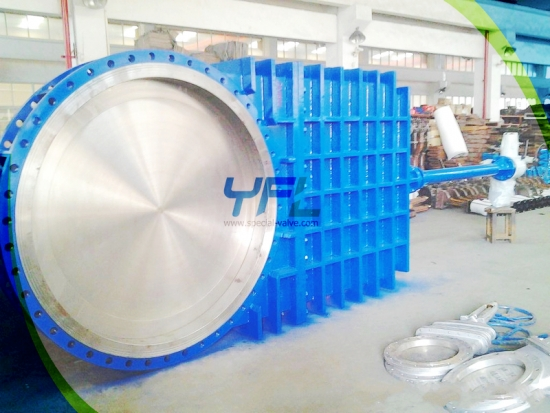 Large Size Extended Stem Knife Gate Valve Slurry Knife