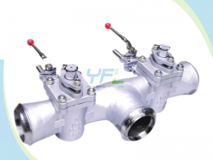 Plug valve with single flush