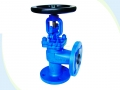 DIN Bellows Seal Angle Type Globe Valve