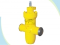Buried City Gas Slab Gate Valves With Gas Exhaust