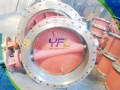 Large Size Triple Offset Metal Seal Butterfly Valve
