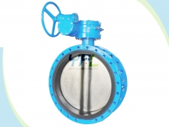 Flanged center line rubber coated butterfly valves