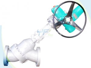 Y type slurry valve for aluminium oxide