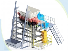 Double shaft MSW shredder
