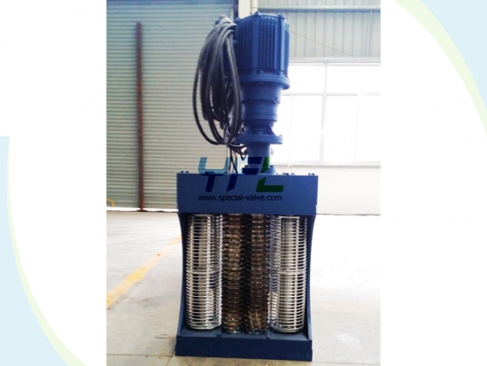 Double Screen Drums Channel Wastewater Grinder
