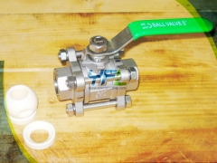 Cast body ceramic ball valve