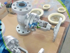 Ceramic globe valve for abrasive service